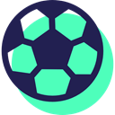sports, Team Sport, soccer, Football, Sports And Competition, Game, equipment Turquoise icon