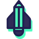 transport, Space Ship, Space Ship Launch, Rocket Ship, Rocket, Rocket Launch, transportation MidnightBlue icon