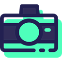 interface, electronics, photograph, digital, picture, technology, photo camera Turquoise icon