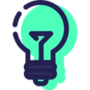 Idea, invention, technology, illumination, electronics, electricity, Light bulb Turquoise icon