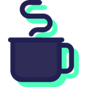 food, Tea Cup, Chocolate, coffee cup, mug, Food And Restaurant, Coffee, hot drink MidnightBlue icon