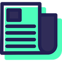 Journal, News Report, interface, News, Newspaper, Communications MidnightBlue icon