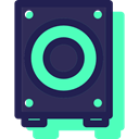 music, Music And Multimedia, subwoofer, Audio, loudspeaker, sound, speaker, woofer, speakers MidnightBlue icon