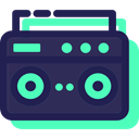music player, portable, radio, electronic, Music And Multimedia, music, cassette MidnightBlue icon