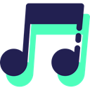 music, Quaver, interface, music player, song, Music And Multimedia, musical note MidnightBlue icon