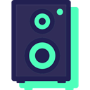 Music And Multimedia, music, speakers, speaker, loudspeaker, Audio, subwoofer, woofer, sound MidnightBlue icon