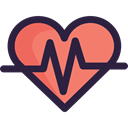 pulse, Cardiogram, Electrocardiogram, Heart, heart rate, Healthcare And Medical, medical DarkSlateGray icon