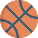 sports, Basketball, team, Sports And Competition, Sport Team, equipment Coral icon