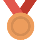 Sports And Competition, medal, sports, Bronze Medal, Prize, third SandyBrown icon