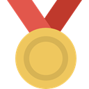 sports, winner, First, Prize, medal, Sports And Competition, gold medal, Best SandyBrown icon