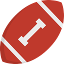 equipment, Sports And Competition, sports, Team Sport, American football, team Firebrick icon