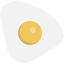 Food And Restaurant, food, protein, organic, fried egg WhiteSmoke icon