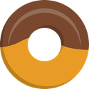 baker, Food And Restaurant, food, doughnut, sweet, donut, Dessert SaddleBrown icon