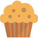 Dessert, cupcake, sweet, Bakery, baked, muffin, food, Food And Restaurant SandyBrown icon