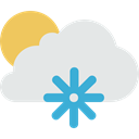 Cold, Snow, meteorology, snowing, winter, weather, Frost Gainsboro icon