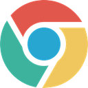chrome, google, Brands And Logotypes, Browser, Logo, windows LightSeaGreen icon