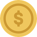 Money, coin, Cash, Currency, Business, Dollar, Commerce And Shopping SandyBrown icon