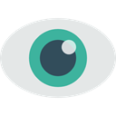 interface, medical, view, Eye, visible, Visibility, Healthcare And Medical Gainsboro icon
