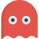 leisure, play, videogame, gaming, Ghost, playing, Game IndianRed icon