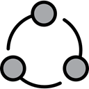 Connection, network, Circles, interface, networking, scheme, Business Black icon