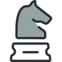 chess, sports, miscellaneous, horse, Game, piece, strategy, knight Black icon