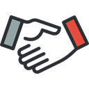 Gestures, Cooperation, Handshake, Hands And Gestures, Agreement, Shake Hands, Business Black icon