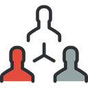 group, team, networking, Collaboration, Working Black icon