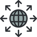 signs, world, Earth Globe, internet, networking, Earth Grid, worldwide, Globe Grid, Multimedia DarkSlateGray icon