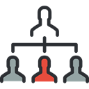 networking, Business, Boss, group, Hierarchical Structure, people, structure, team Black icon