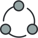 interface, networking, Circles, Business, Connection, scheme, network Black icon