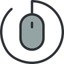 computer mouse, Computer, computing, Technological, technology, electronic, clicker, Mouse, electronics Black icon