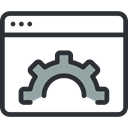 interface, computing, Browser, ui, internet DarkSlateGray icon