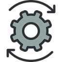 cogwheel, miscellaneous, Gear, settings, Tools And Utensils, configuration DarkSlateGray icon