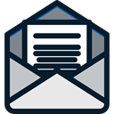 envelope, interface, Multimedia, mail, mails, envelopes, Communications, Email, Message Black icon