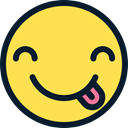 faces, wink, interface, feelings, Emoji, Smileys, tongue, Ideogram, emoticons Khaki icon