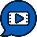 technology, Communications, Communication, Video Call, speech bubble DarkCyan icon