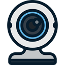 Cam, video chat, Communications, Webcam, technology, Videocall, electronics, Videocam Black icon