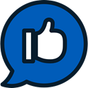 Communications, Hands And Gestures, networking, Chat, Hand, thumb up, Like, speech bubble, social media DarkCyan icon