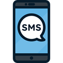 sms, cellphone, mobile phone, electronics, smartphone, technology, Communications, phone, telephone Black icon