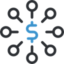 networking, Circles, scheme, Business, Dollar Symbol, Connection, Business And Finance, network Black icon