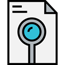 search, document, Loupe, Archive, preview, ui, magnifying glass, File, Files And Folders WhiteSmoke icon