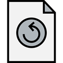 Multimedia Option, Multimedia, Orientation, ui, directional, Undo, Arrows WhiteSmoke icon