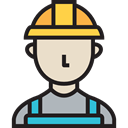 worker, job, people, Occupation, user, Engineer, Avatar, profession, Man Black icon
