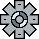 configuration, Gear, settings, cogwheel, industry, Tools And Utensils Silver icon