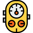 Atmospheric, technology, Gauge, pressure, measure, Tools And Utensils, industry, meter, needle SandyBrown icon