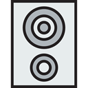 sound, speaker, woofer, loudspeaker, Audio, speakers, electronics, subwoofer, music Lavender icon