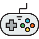 gamer, technology, game controller, gaming, joystick, gamepad, video game, Multimedia Lavender icon
