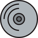 Cd, Music And Multimedia, music player, Dvd, Multimedia, music, Bluray, compact disc Icon