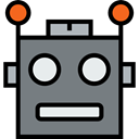 Avatar, childhood, technology, Futurist, Toy, robot, electronics, user, Science Fiction Gray icon