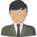 user, Businessman, profile, Social, Avatar DimGray icon